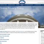 White House updating online privacy policy